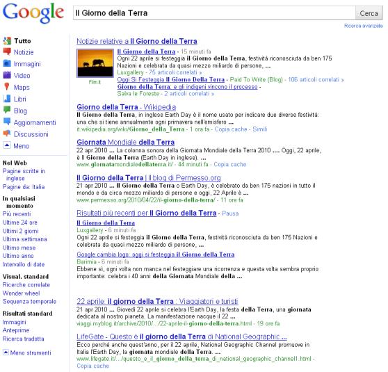 Google Italia: nuova interfaccia grafica