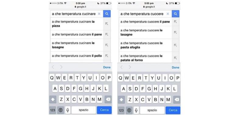 google suggest ricette italia