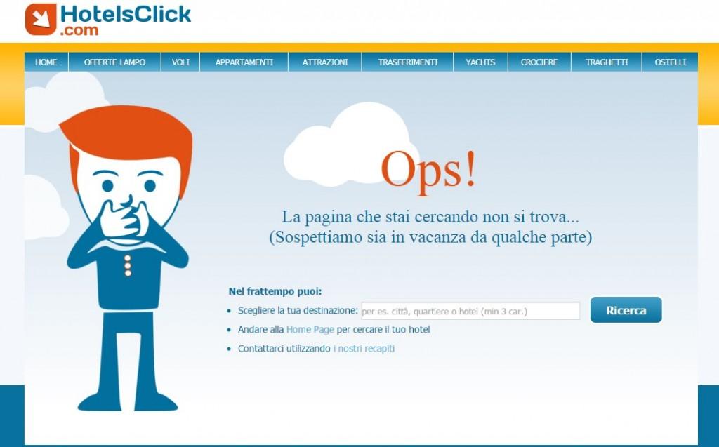 esempio pagina non trovata 404