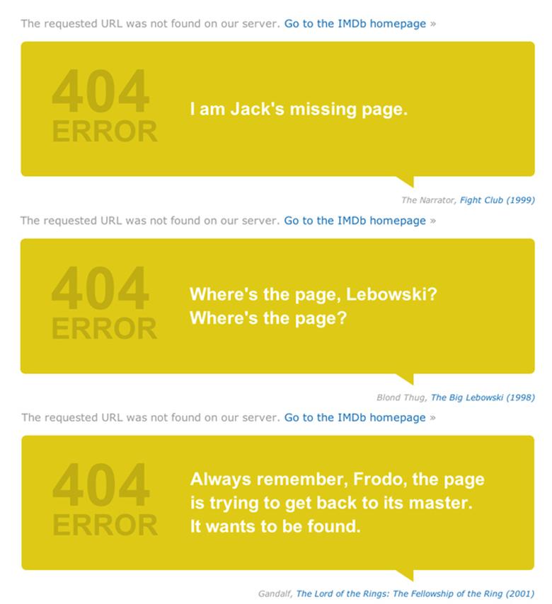 esempio 404 da imdb...direi esilerante