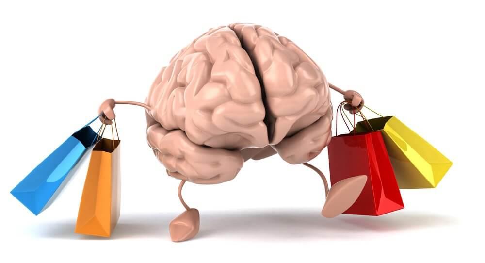 cervello acquisti d'impulso shopping