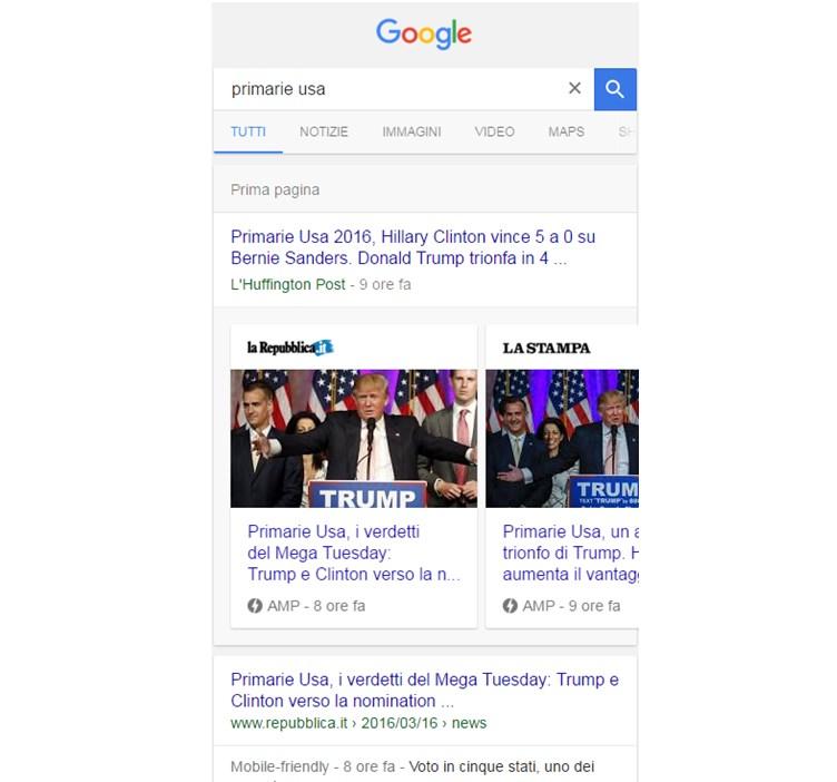 google amp primarie usa