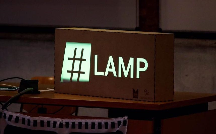 marketers day hashtag lamp