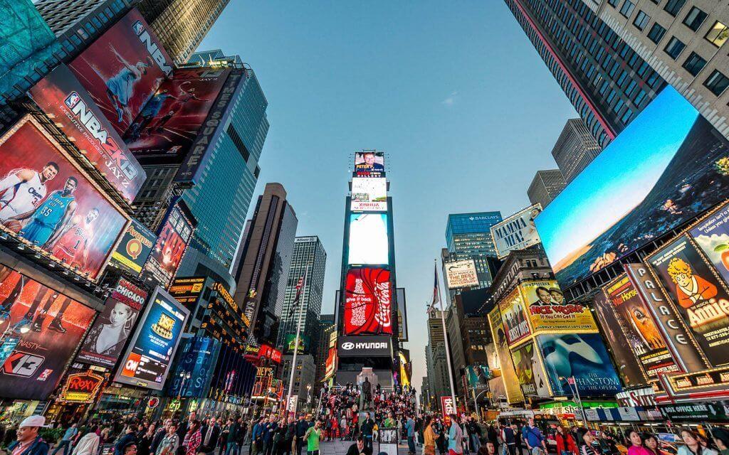 pubblicità a Times Square, New York