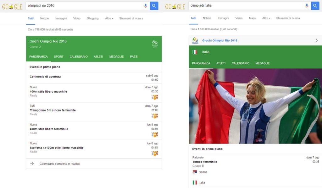 olimpiadi 2016 su Google