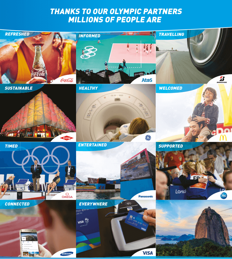 Sponsor Olimpiadi Rio 2016