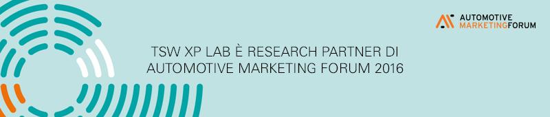 TSW è Research Partner dell'Automotive Marketing Forum