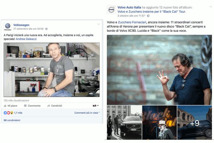 Facebook Volvo Volkswagen Influencer