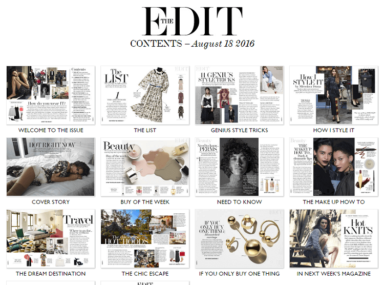 The Edit Net A Porter Shoppable Content