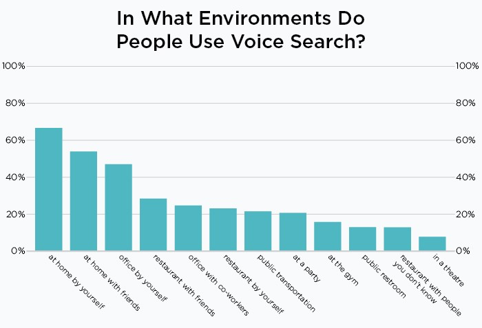 what environment use voice search