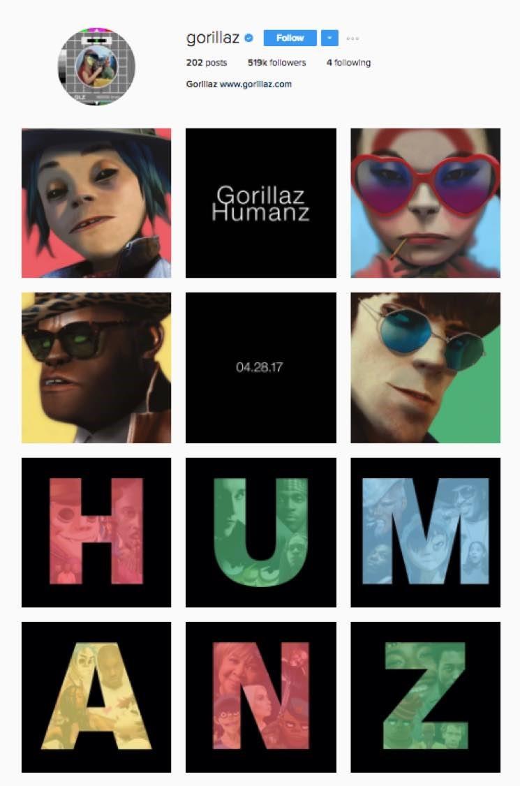 gorillaz humanz instagram