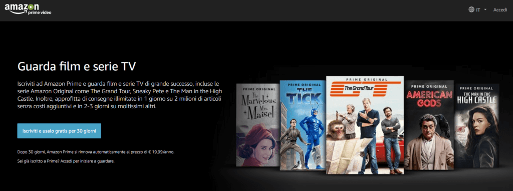 Contenuti originali, l'esempio di Amazon