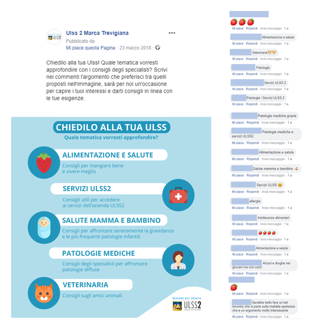 Ulss 2 su Facebook